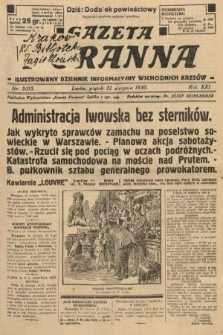 Gazeta Poranna : ilustrowany dziennik informacyjny wschodnich kresów. 1930, nr9315
