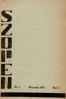 Szopen : popularny miesięcznik muzyczny. 1932, nr1