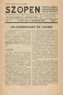Szopen : popularny miesięcznik muzyczny. 1932, nr3