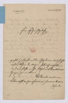 List do Karola Augusta von Varnhagena