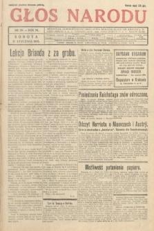 Głos Narodu. 1933, nr20