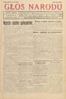 Głos Narodu. 1933, nr249