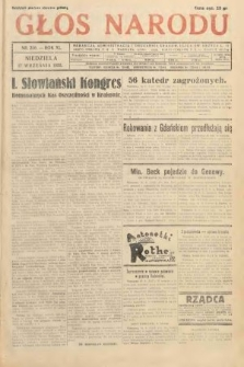 Głos Narodu. 1933, nr250