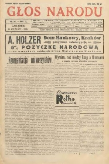 Głos Narodu. 1933, nr261