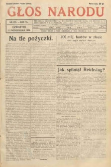 Głos Narodu. 1933, nr275
