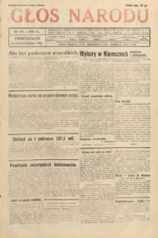 Głos Narodu. 1933, nr279
