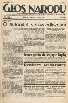 Głos Narodu. 1938, nr184