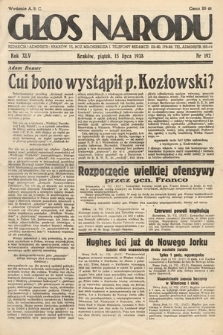 Głos Narodu. 1938, nr192