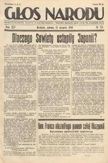 Głos Narodu. 1938, nr221