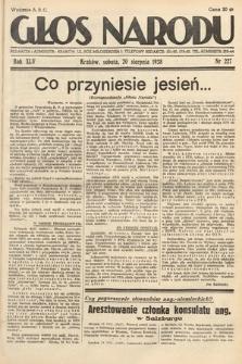 Głos Narodu. 1938, nr227