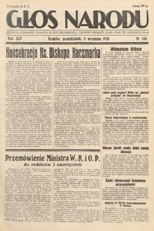 Głos Narodu. 1938, nr243