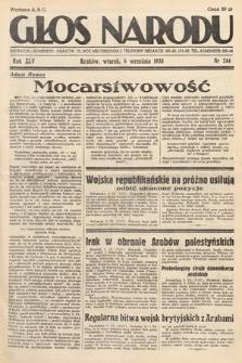 Głos Narodu. 1938, nr244