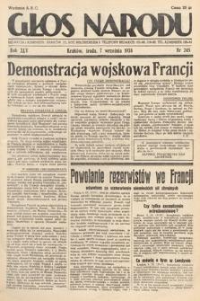 Głos Narodu. 1938, nr245