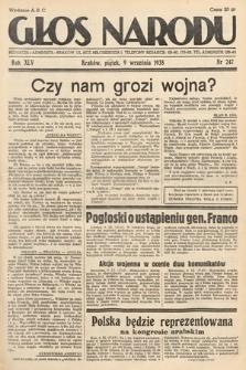 Głos Narodu. 1938, nr247