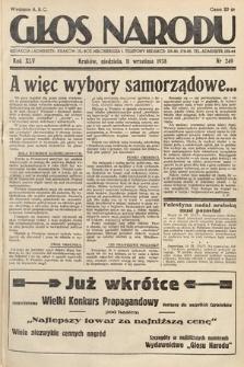 Głos Narodu. 1938, nr249
