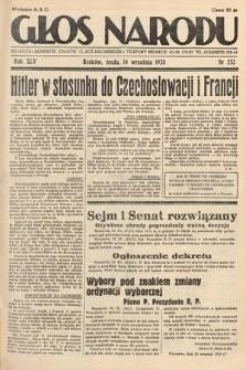 Głos Narodu. 1938, nr252
