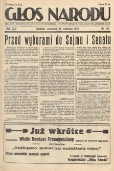 Głos Narodu. 1938, nr253