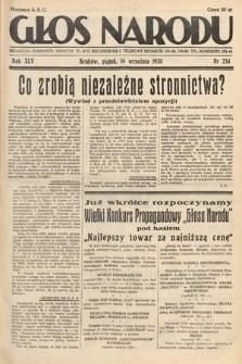 Głos Narodu. 1938, nr254