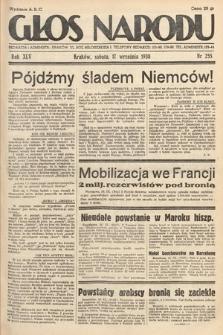 Głos Narodu. 1938, nr255