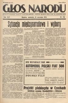 Głos Narodu. 1938, nr256