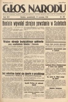 Głos Narodu. 1938, nr257