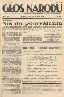 Głos Narodu. 1938, nr258