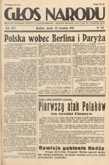Głos Narodu. 1938, nr261