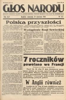 Głos Narodu. 1938, nr263