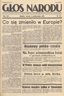 Głos Narodu. 1938, nr272