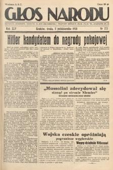 Głos Narodu. 1938, nr273