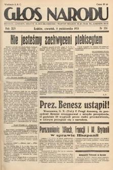 Głos Narodu. 1938, nr274