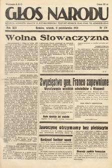 Głos Narodu. 1938, nr279