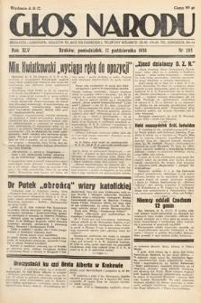 Głos Narodu. 1938, nr285