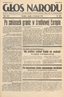 Głos Narodu. 1938, nr303