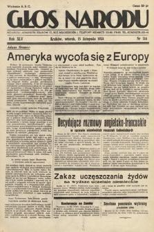 Głos Narodu. 1938, nr314