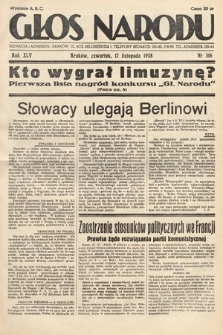 Głos Narodu. 1938, nr316