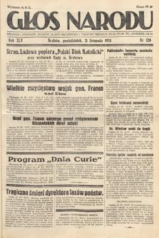 Głos Narodu. 1938, nr320