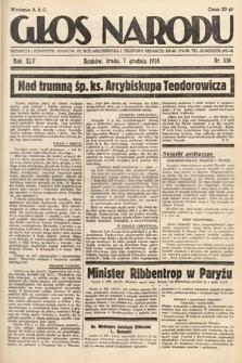 Głos Narodu. 1938, nr336