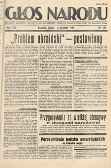 Głos Narodu. 1938, nr345