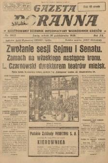 Gazeta Poranna : ilustrowany dziennik informacyjny wschodnich kresów. 1929, nr9022