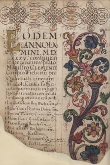 Liber promotionum philosophorum ordinis in Universitate studiorum Jagellonica ab anno Domini 1561-1655