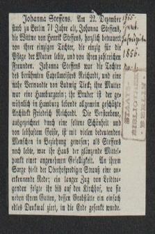 Autografy Johanny Steffens i inne materiały z nią związane
