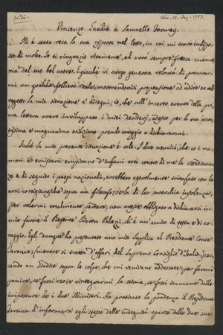 Autografy Vinzenzio Gaudio i inne materiały z nim związane