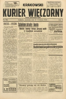 Krakowski Kurier Wieczorny : pismo demokratyczne. 1938, nr254
