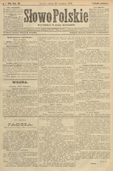Słowo Polskie (wydanie poranne). 1904, nr391