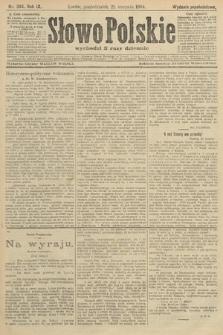 Słowo Polskie (wydanie popołudniowe). 1904, nr394