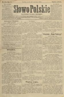 Słowo Polskie (wydanie poranne). 1904, nr448