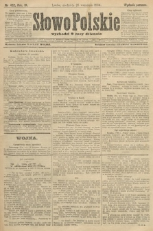 Słowo Polskie (wydanie poranne). 1904, nr452