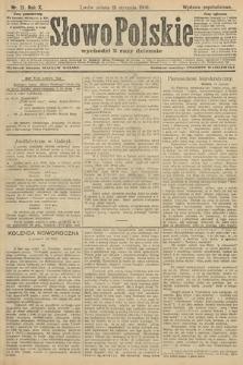 Słowo Polskie (wydanie popołudniowe). 1906, nr21