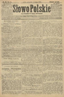 Słowo Polskie (wydanie poranne). 1906, nr63